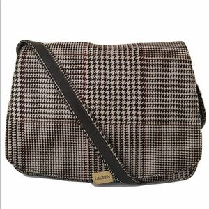 Lauren Ralph Lauren Purse Beige Plaid Tweed